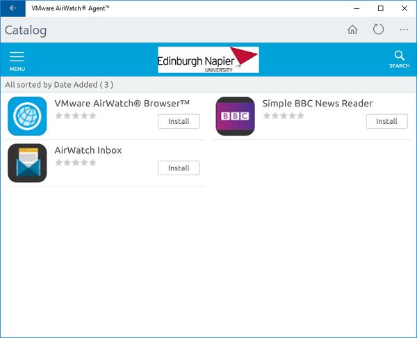 How do I install AirWatch MDM on my Windows 10 Device?
