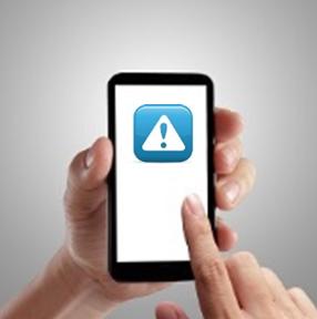 Device warning image
