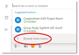 Image of Browse more rooms option