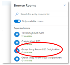 Image of Group Study Room text