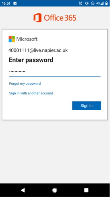 Add email to Android image