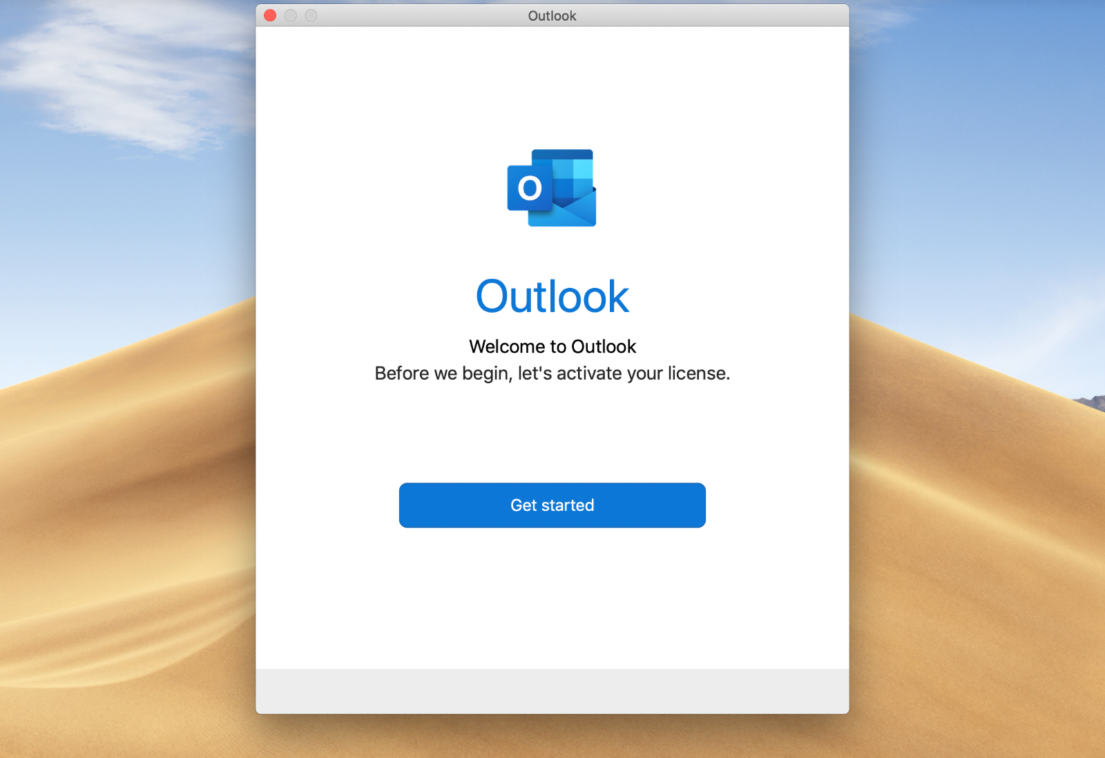 Email setup on MacOS