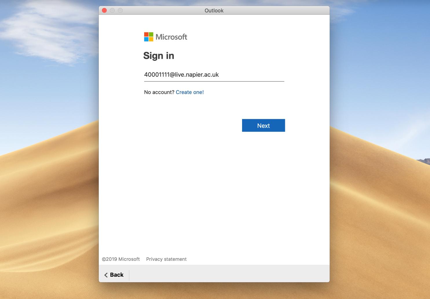 Email setup on MacOS