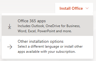 Install Office 365 apps