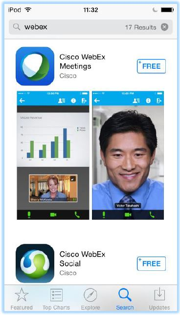 How do I join a Webex Session Using iOS (iPad, iPhone)?