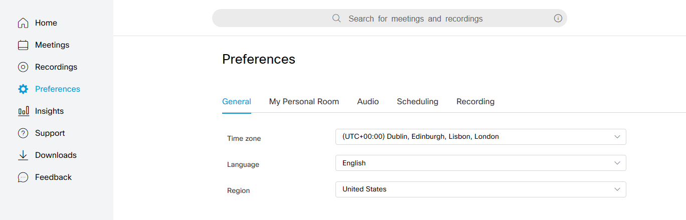 Webex screenshot