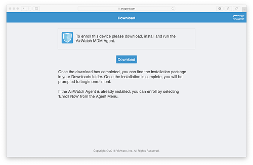 How do I install AirWatch MDM on my macOS Device?